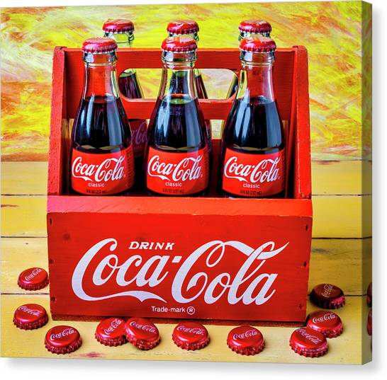 Coca Cola Canvas Print - Six Pack Of Cokes by Garry Gay