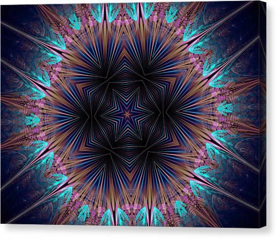 Six Petal Star Kaleidoscope Canvas Print