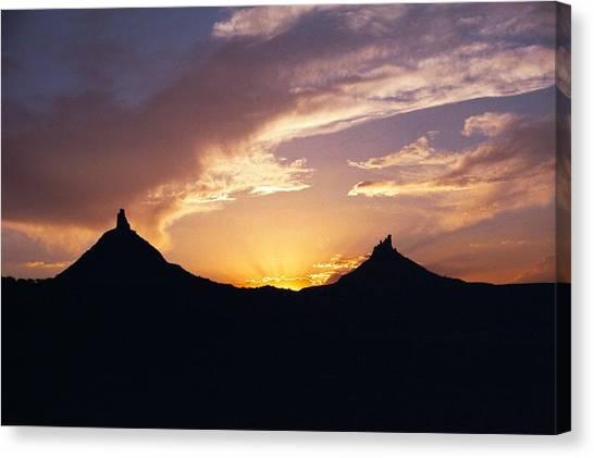 Six Shooter Peaks Canvas Print