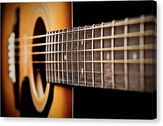 Six String Guitar Canvas Print