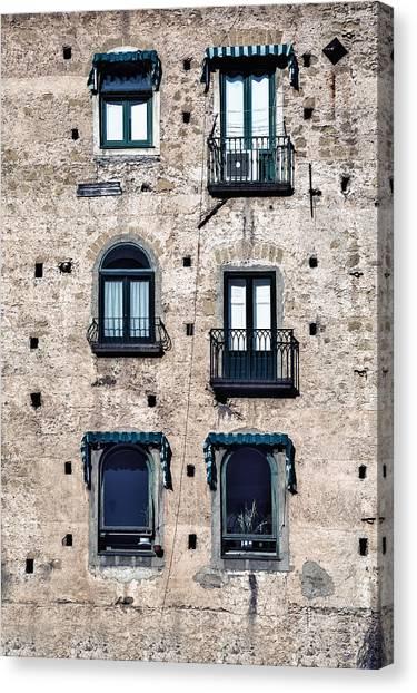 Old Houses Canvas Print - Six Windows by Joana Kruse