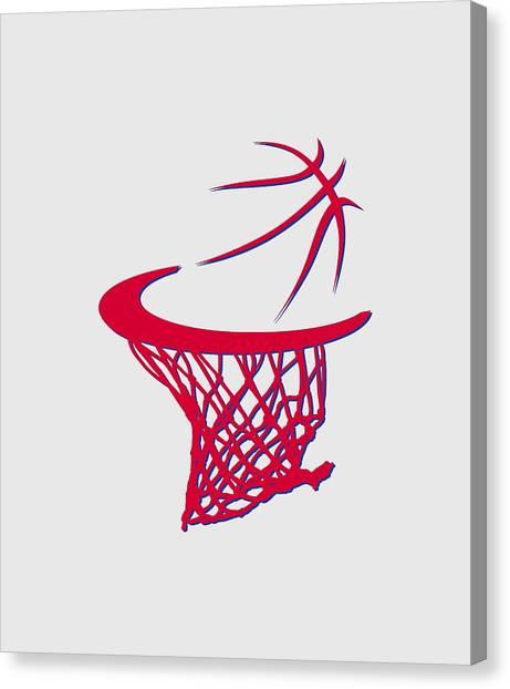 Philadelphia Sixers Canvas Print - Sixers Basketball Hoop by Joe Hamilton