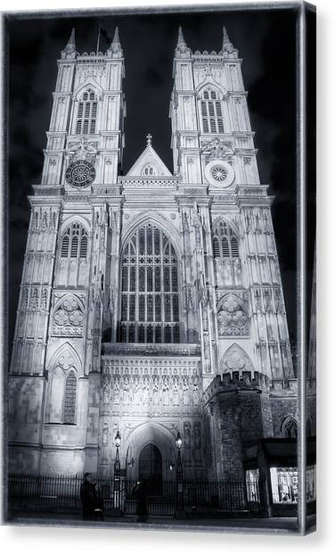 Westminster Abbey Canvas Print - Westminster Abbey Night by Joan Carroll