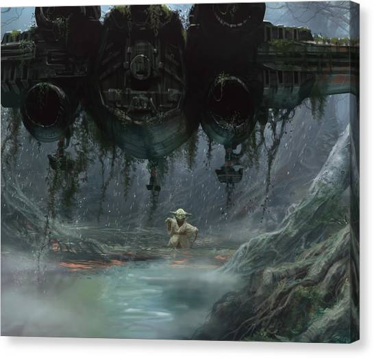 Jedi Canvas Print - Size Matters Not by Ryan Barger