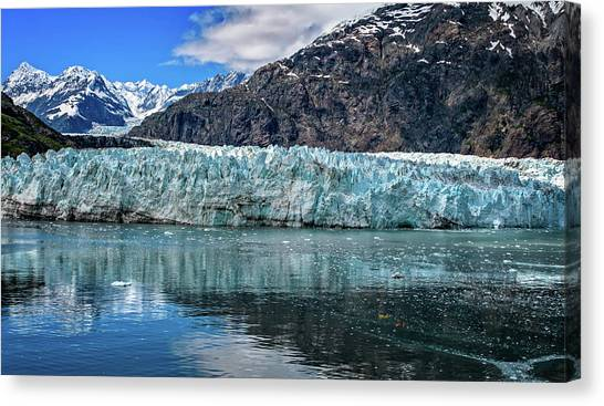 Size Perspective No Margerie Glacier Canvas Print