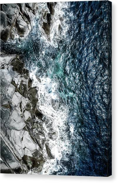 Aerial Canvas Print - Skagerrak Coastline - Aerial Photography by Nicklas Gustafsson