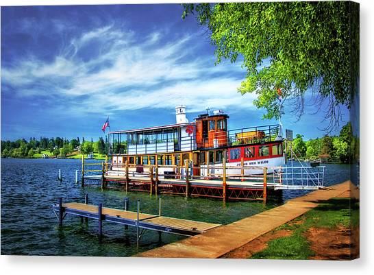 Skaneateles Lake Cruise Boat Canvas Print