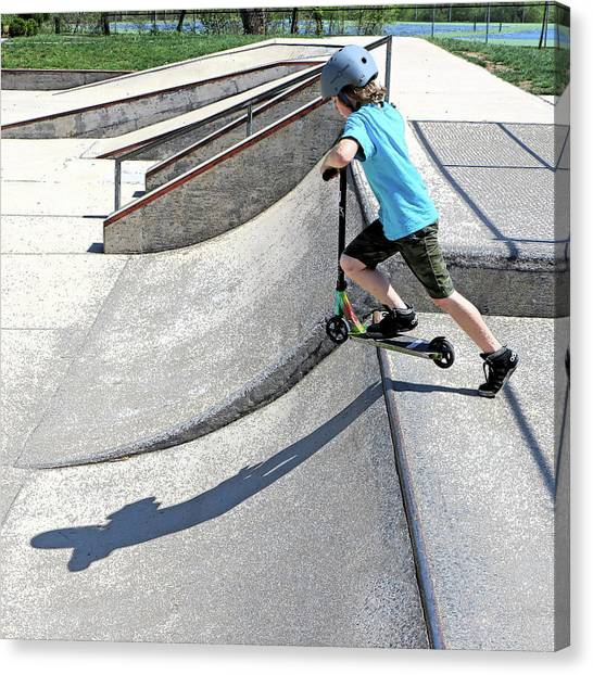 Rollerblading Canvas Print - Skate Park Fun by Christopher McKenzie