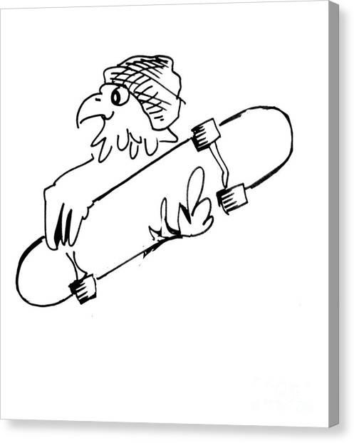 Skateboard Hawk  Canvas Print