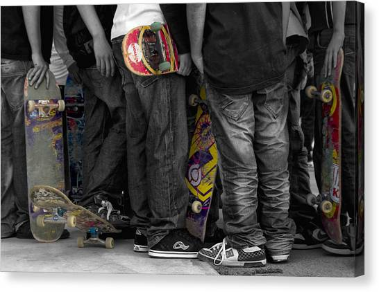 Skateboarding Canvas Print - Skateboarders by Stelios Kleanthous