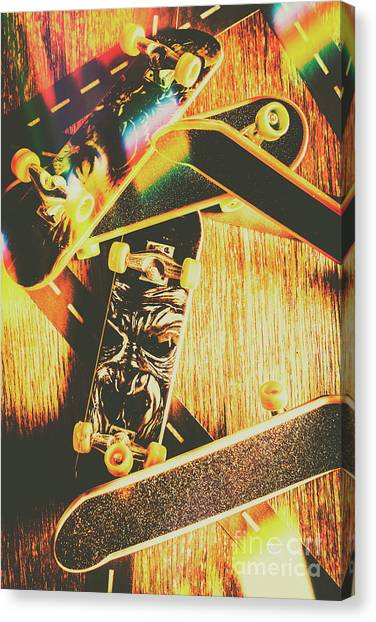 Skating Canvas Print - Skateboarding Tricks And Flips by Jorgo Photography - Wall Art Gallery