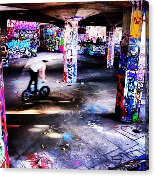 Art Movements Canvas Print - #skatepark #skate #park #urban by Louise McAulay