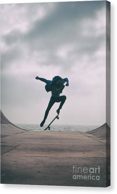 Skater Boy 004 Canvas Print