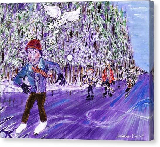 Skating On Thin Ice Canvas Print