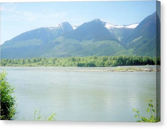 Skeena River British Columbia Canvas Print by Michael Mccormack