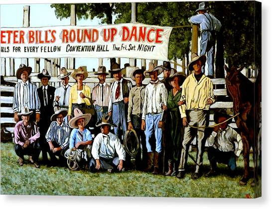 Skeeter Bill's Round Up Canvas Print
