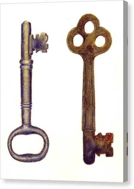 Skeleton Canvas Print - Skeleton Keys by Michael Vigliotti