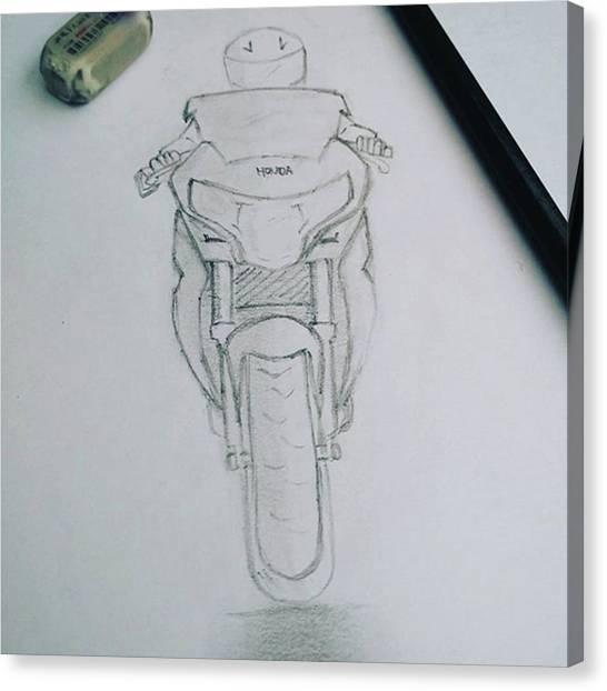 Canvas Print - Sket Cbr250r #cbr250r by Yusup Darman Jati