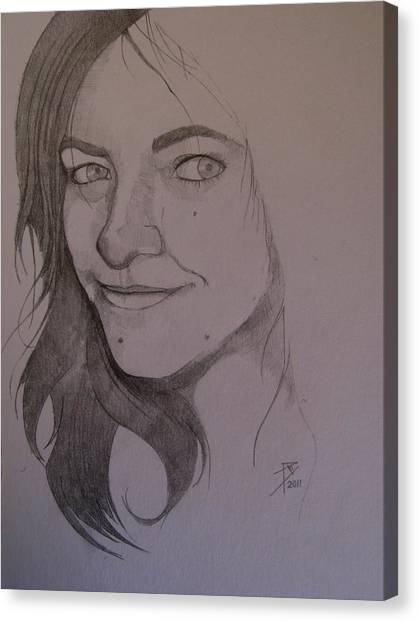 Sketch For Allison Canvas Print by Ray Agius