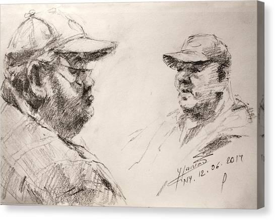 Pencils Canvas Print - Sketch Man 10 by Ylli Haruni