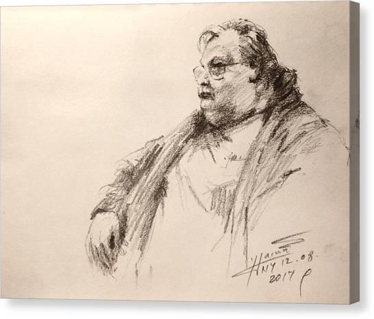 Pencils Canvas Print - Sketch Man 12 by Ylli Haruni