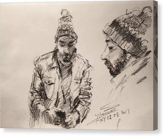 Pencils Canvas Print - Sketch Man 13 by Ylli Haruni