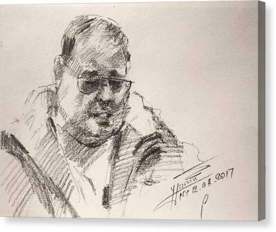 Pencils Canvas Print - Sketch Man 14 by Ylli Haruni