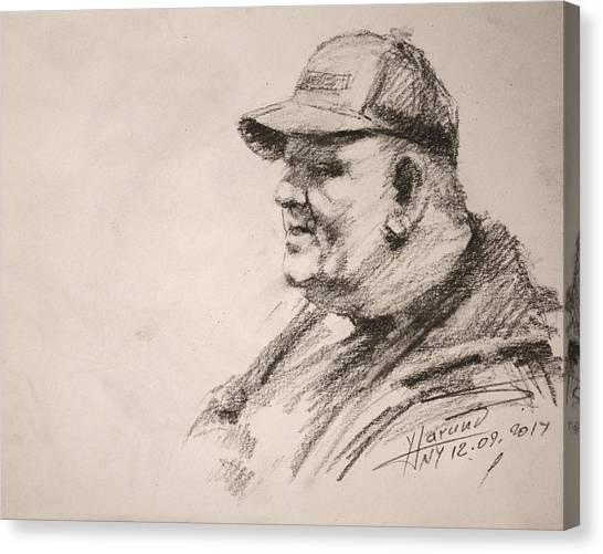 Pencils Canvas Print - Sketch Man 15 by Ylli Haruni