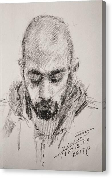 Pencils Canvas Print - Sketch Man 16 by Ylli Haruni