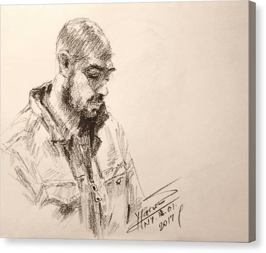 Pencils Canvas Print - Sketch Man 9 by Ylli Haruni