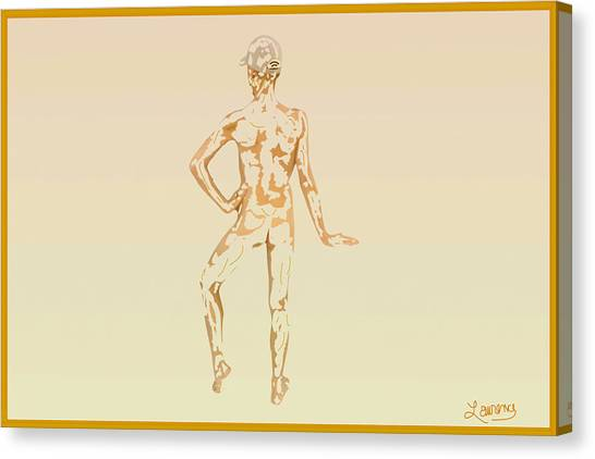 Male Nudes Canvas Print - Sketch Of A Male by Laurence Wolfe