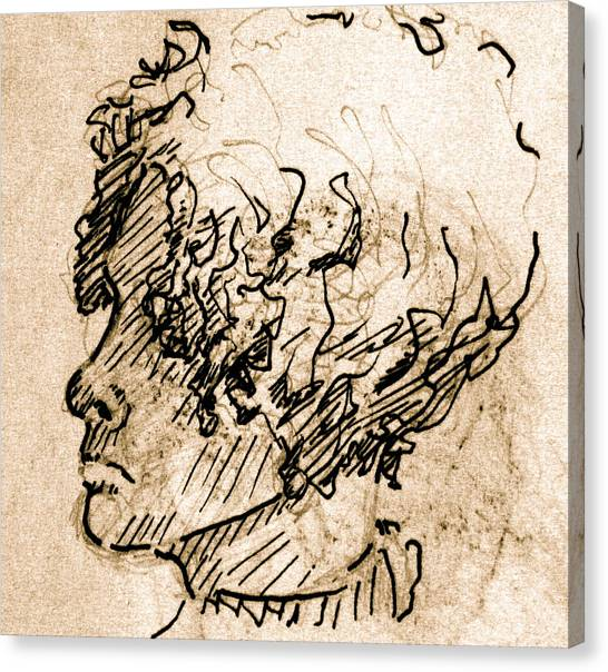 Sketch Of A Young Woman Canvas Print by Dan Earle