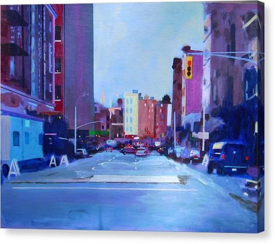 Sketch Of Manhattan Canvas Print by John Tartaglione