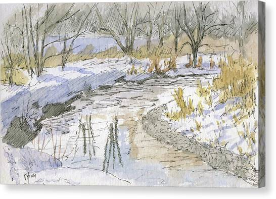 River Jordan Canvas Print - Sketchbook 098 by David King