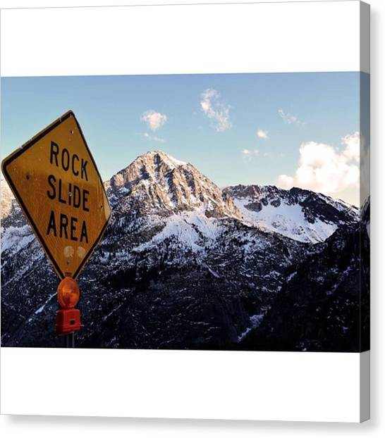 Scotty Canvas Print - Sketchy Ass Road Along Tioga Pass 😬 by Scotty Brown