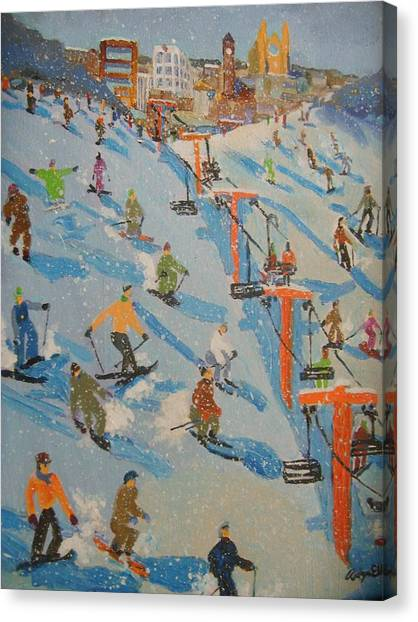 Ski Hill Canvas Print