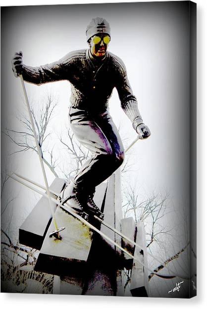 Ski On The Edge Canvas Print