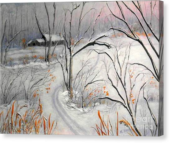 Ski Trail Canvas Print