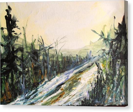 Ski Trail Canvas Print by Linda King