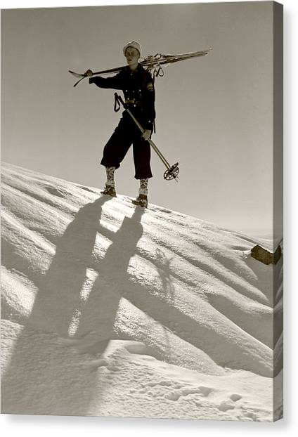 Skier Canvas Print by Unknown