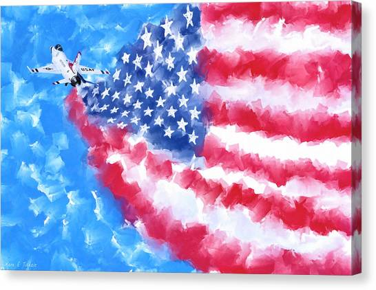 F16 Canvas Print - Skies Over America by Mark Tisdale