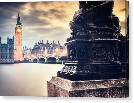 Skies Over London Canvas Print