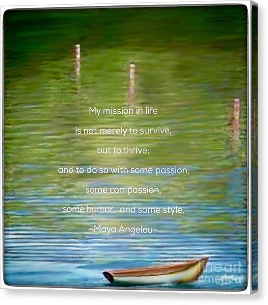 Skiff Boat Quote Canvas Print