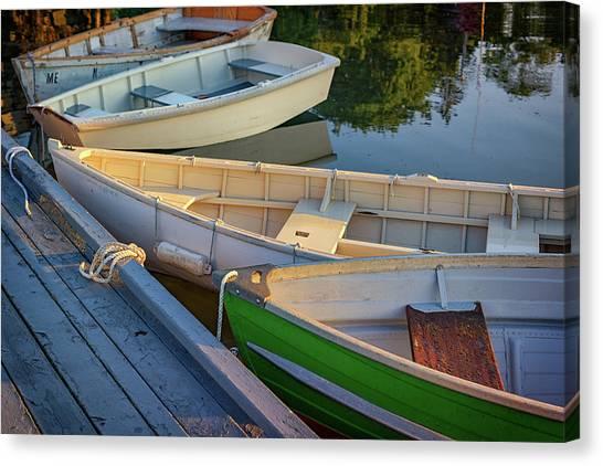 Dinghy Canvas Print - Skiffs In Tenants Harbor by Rick Berk