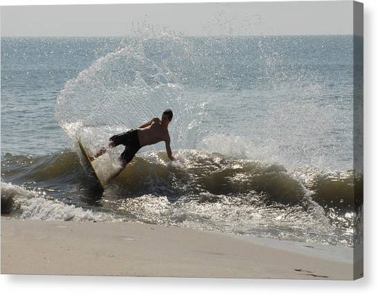 Atlantic 10 Canvas Print - Skimboarding 35 by Joyce StJames