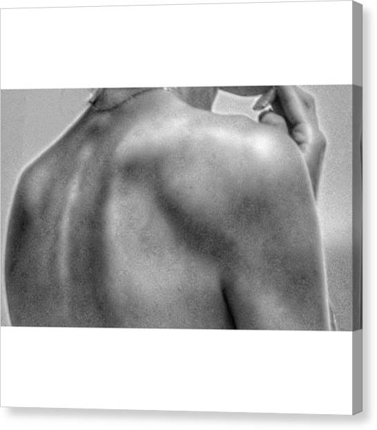 Soccer Players Canvas Print - Skin  #bnw #bw #pb by Marcio Carvalho