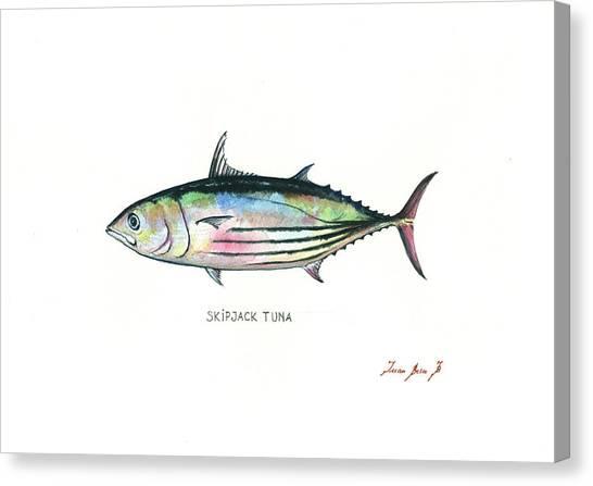 Tuna Canvas Print - Skipjack Tuna by Juan Bosco