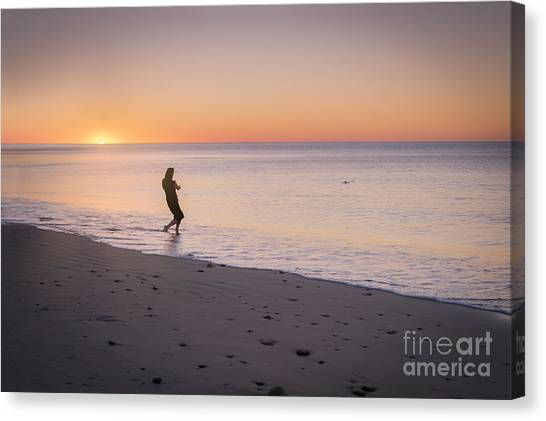 Canvas Print featuring the photograph Skipping Stones by Ray Warren