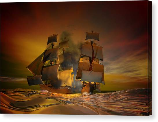 Pirate Canvas Print - Skirmish by Carol and Mike Werner
