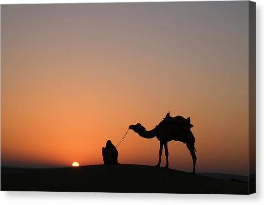 Skn 0870 Silhouette At Sunrise Canvas Print